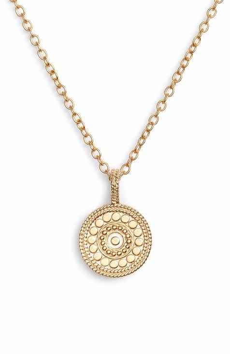 gold circle pendant necklace nordstrom. Black Bedroom Furniture Sets. Home Design Ideas