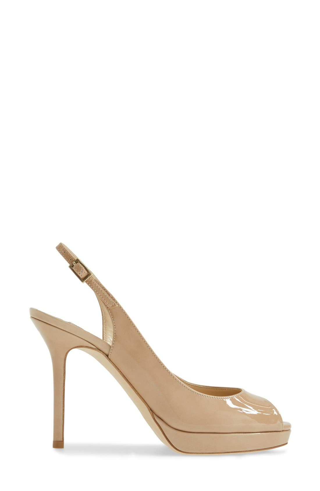 Alternate Image 4  - Jimmy Choo 'Nova' Patent Leather Slingback Pump (Women)