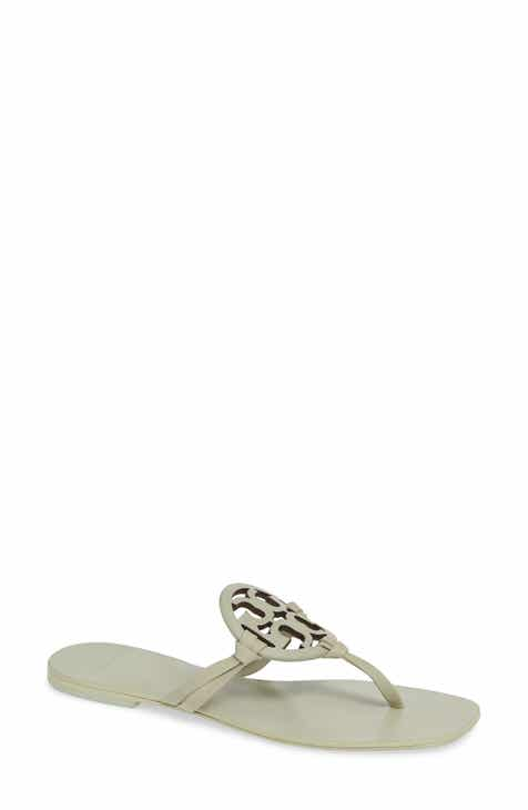 7267984e7ea938 Tory Burch Miller Square Toe Thong Sandal (Women)