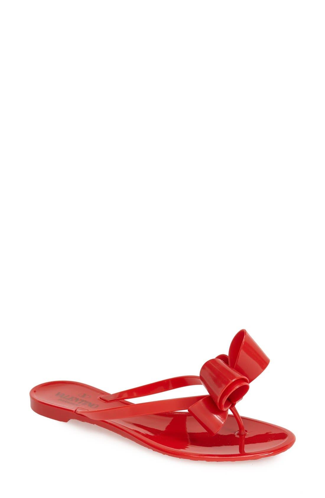 Main Image - VALENTINO GARAVANI Couture Bow Thong Sandal (Women)