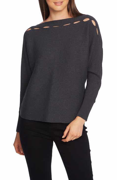 1.STATE Boat Neck Slit Yoke Sweater