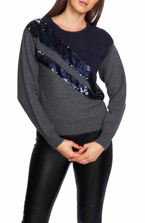 1.STATE Crewneck Eyelash Sweater