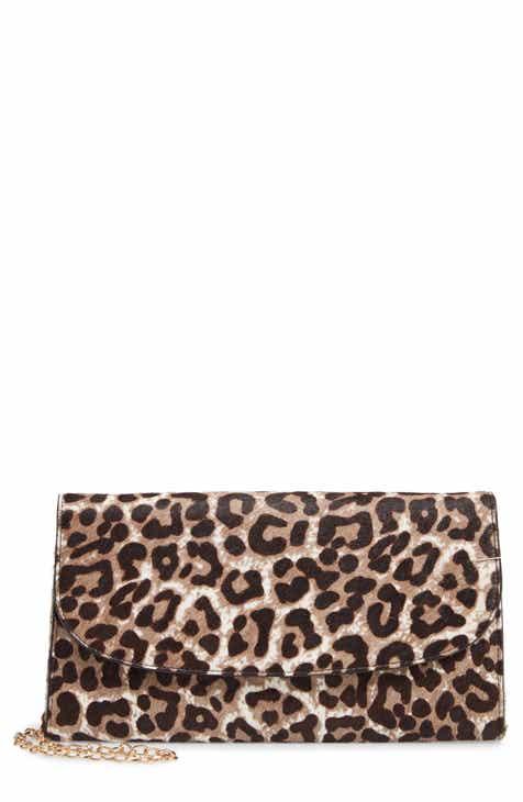 f1ab8ddd6706 Nordstrom Genuine Calf Hair Leopard Print Clutch
