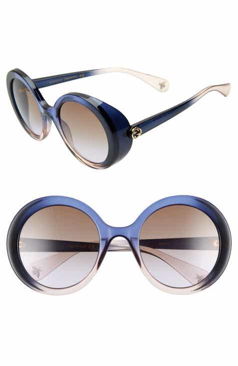 2e2c9ab344 Gucci 53mm Round Sunglasses