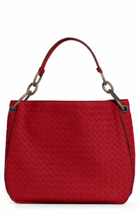 Bottega Veneta Small Loop Leather Hobo