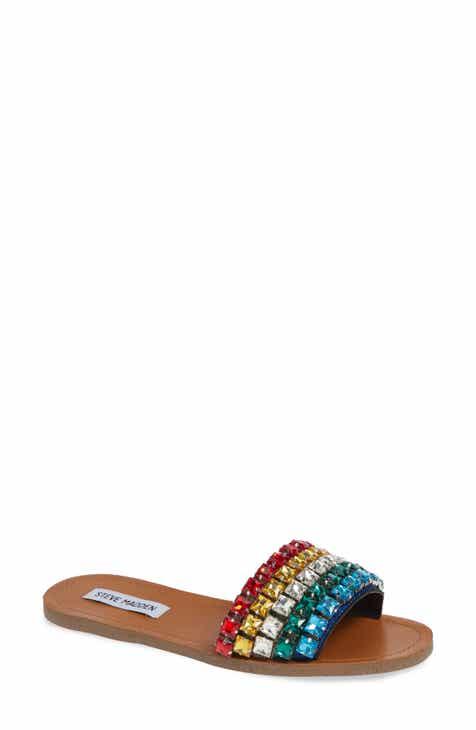 89c4b0a1285 Steve Madden Serenade Crystal Embellished Slide Sandal (Women)