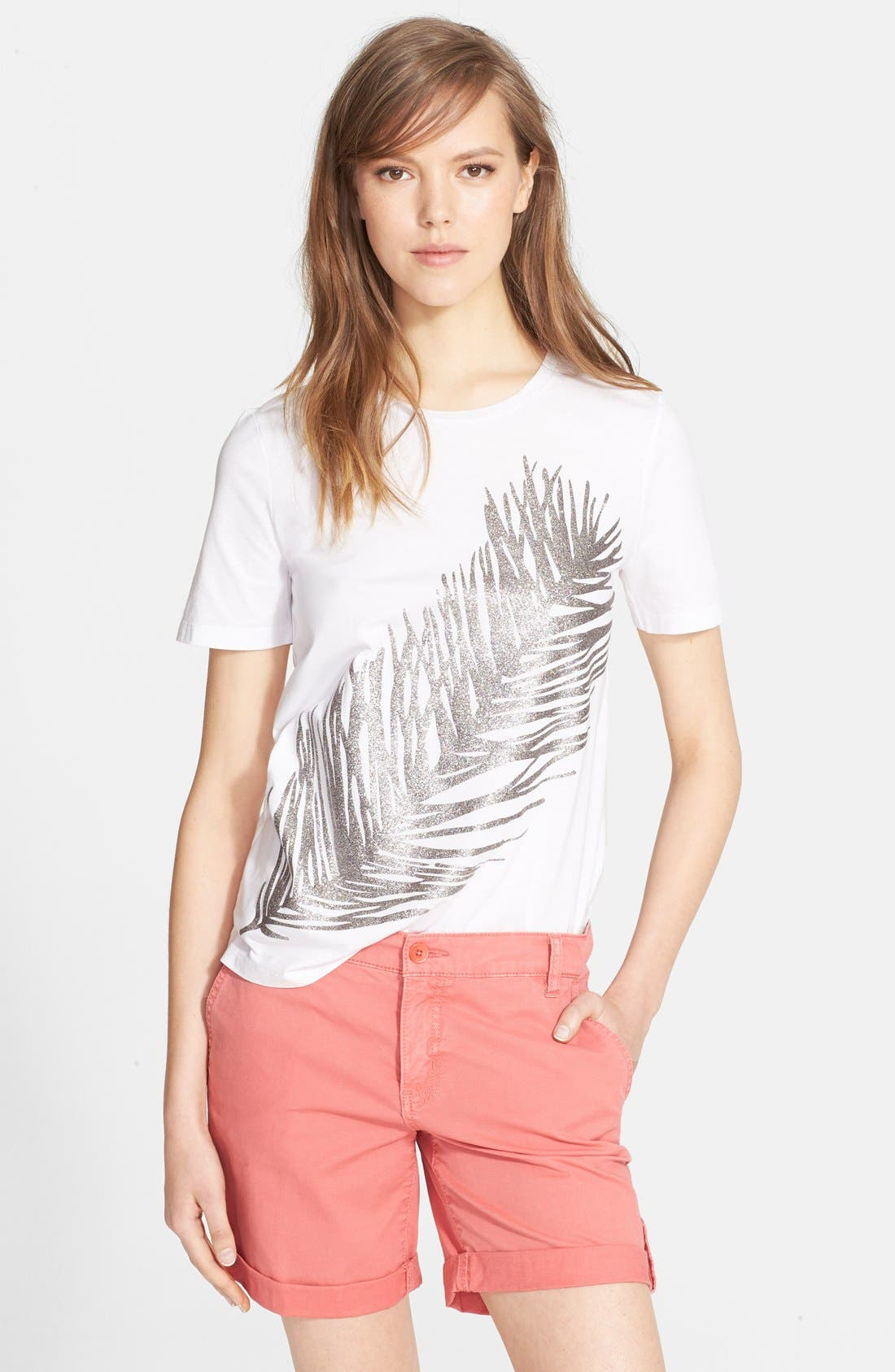 Main Image - Tory Burch Cotton Jersey Tee