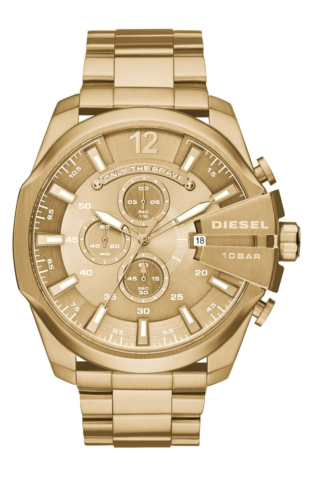 'Mega Chief' Chronograph Watch, 51mm,                         Main,                         color, Gold