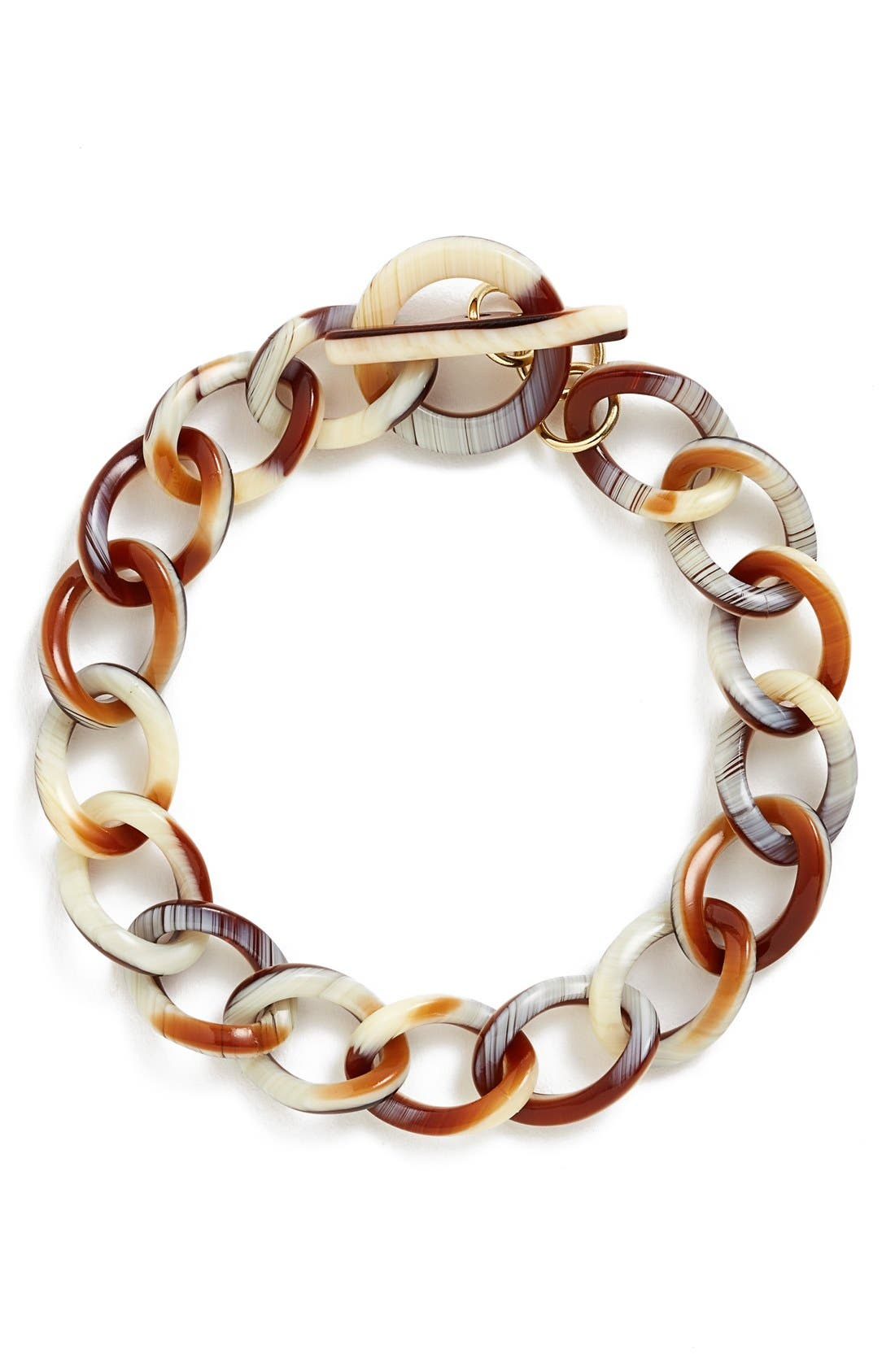 'Gemma' Link Bracelet,                             Main thumbnail 1, color,                             Natural Horn