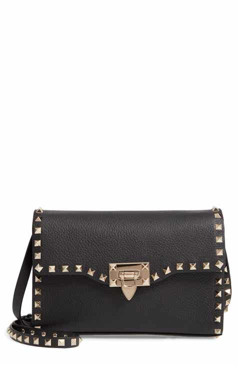 55d6f635d2a VALENTINO GARAVANI Medium Rockstud Leather Crossbody Bag