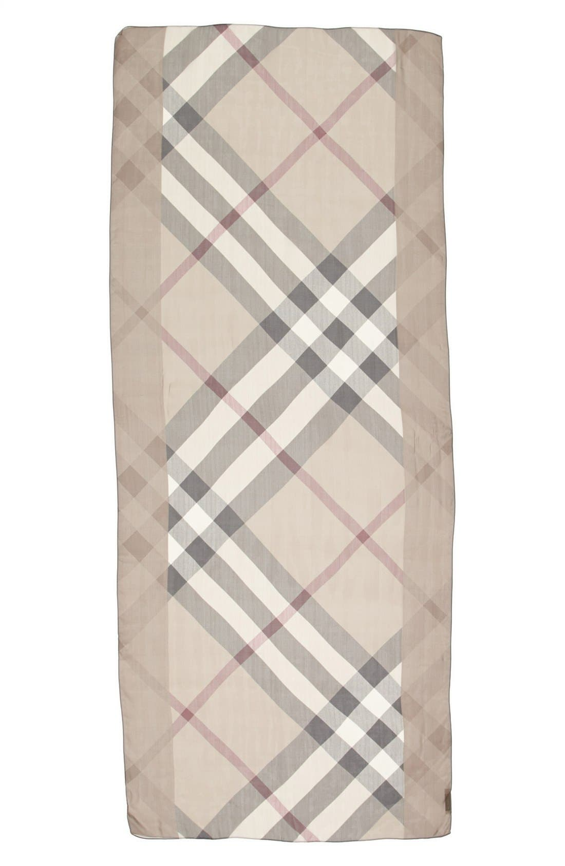 Alternate Image 2  - Burberry Check Print Silk Scarf