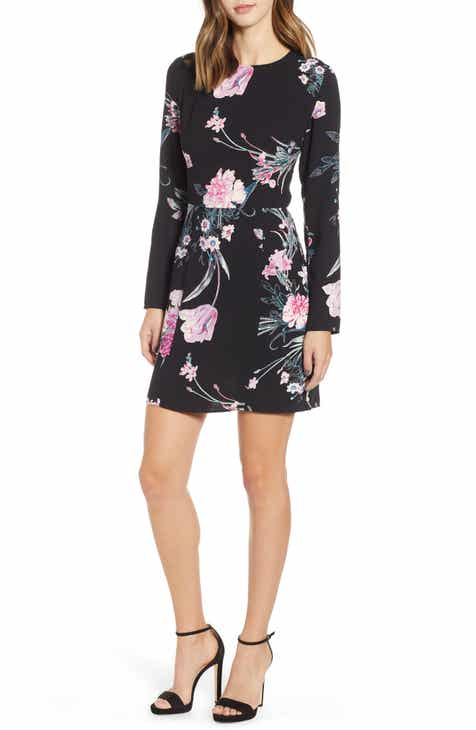 Leith Floral Print Sheath Minidress by LEITH