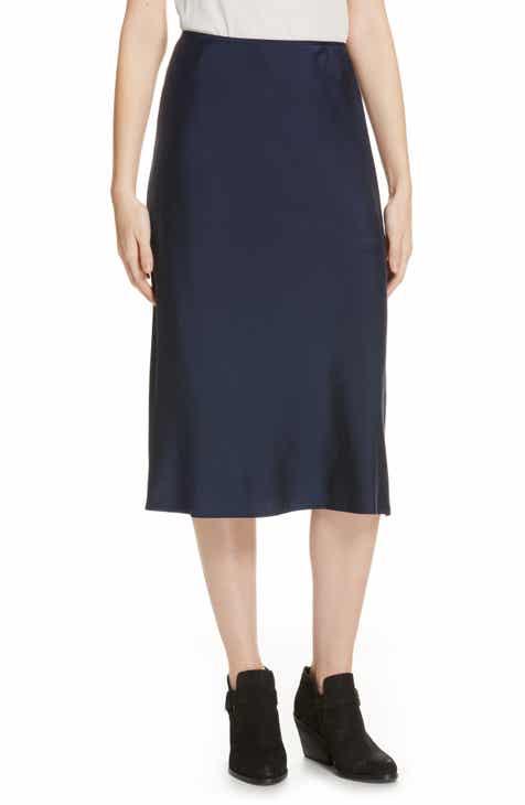b6b384fb8938e Eileen Fisher Stretch Silk Midi Skirt