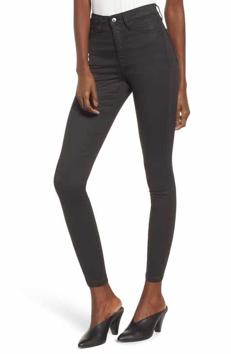 Topshop Jamie Coated High Waist Skinny Jeans by TOPSHOP