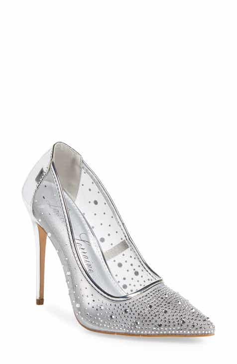 0c01cea481e Lauren Lorraine Janna Embellished Illusion Pump (Women)