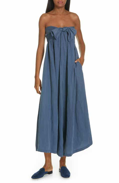 82c05c3f4b5 Ulla Johnson Jordane Strapless Wide Leg Jumpsuit