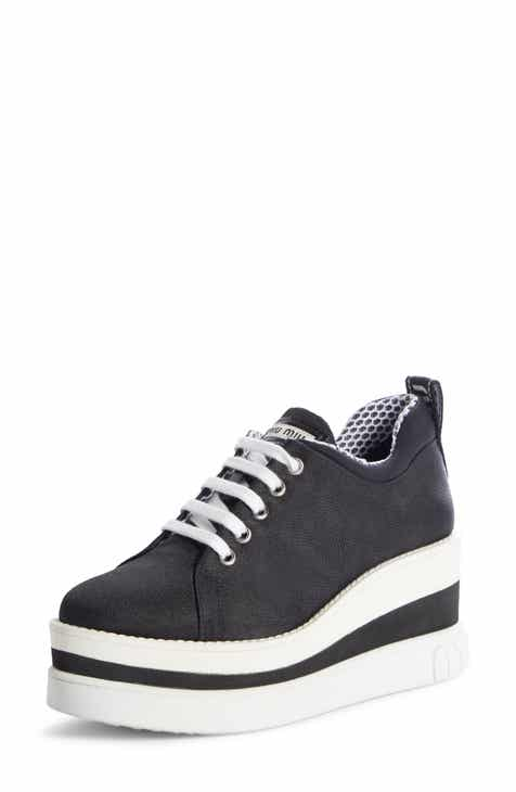 Miu Miu Platform Wedge Sneaker (Women) 2b327117354b