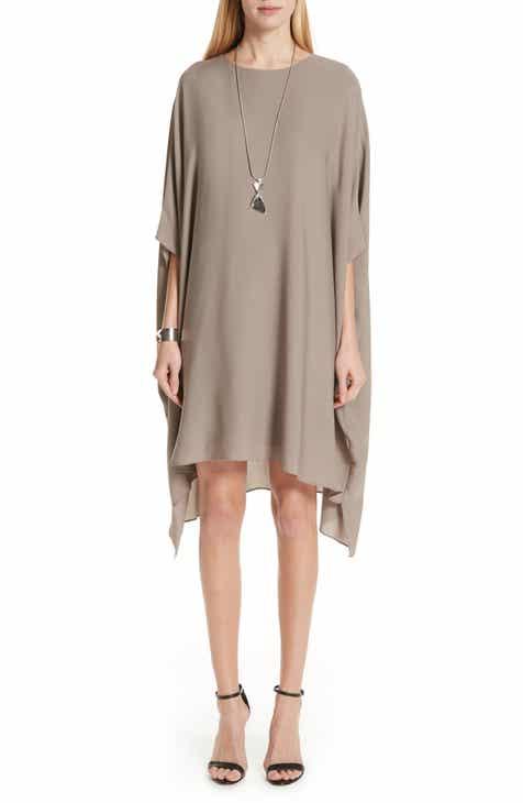 0205cc843f0 St. John Collection Draped Satin Silk Georgette Dress
