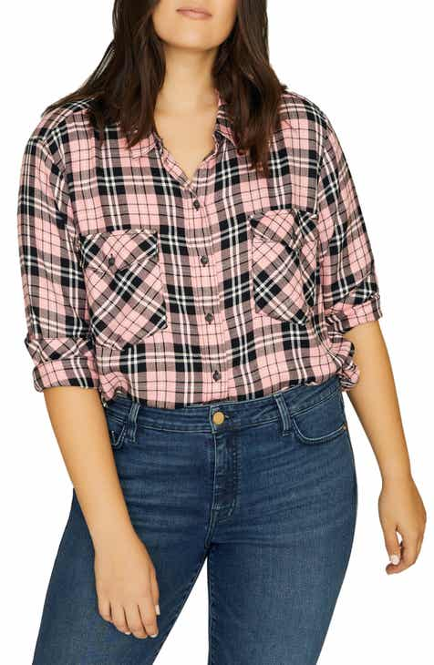 f888c71c688b2 Sanctuary Boyfriend for Life Plaid Shirt (Plus Size)