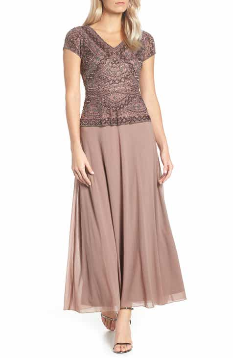 48237ff0d8 Pisarro Nights Beaded V-Neck Mock Two-Piece Gown