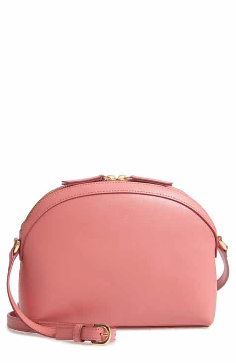 82a15c35c5 Nordstrom Isobel Half Moon Leather Crossbody Bag