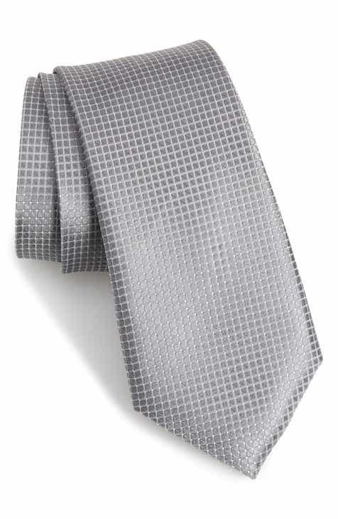 aa07c67e7b Nordstrom Men s Shop Kensington Check Silk Tie