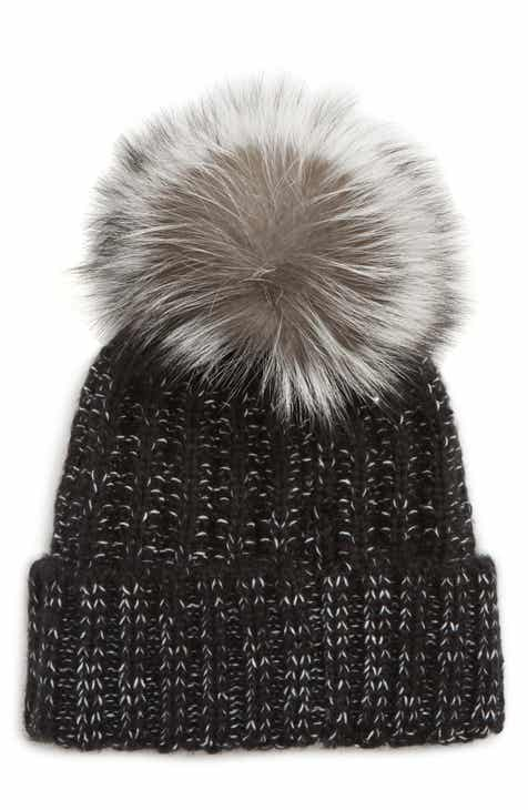 Kyi Kyi Beanie with Genuine Fox Fur Pom f687f2a189d