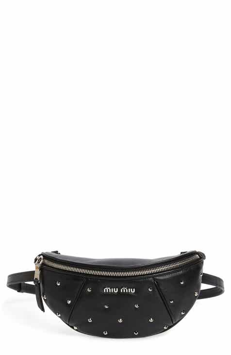 Miu Miu Studded Lambskin Leather Belt Bag f50d42bbcb2c7