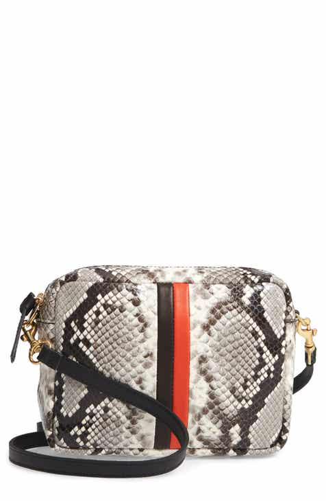 Clare V. Midi Sac Python Embossed Leather Crossbody Bag 5a8a81d36bf