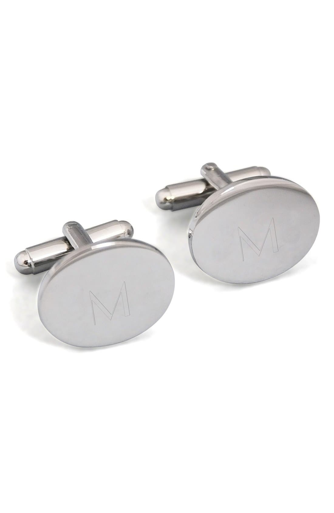Cathy's Concepts Monogram Oval Cuff Links
