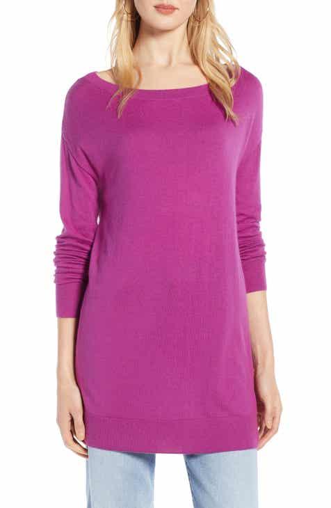 1ef96f1b56 Halogen® Boatneck Tunic Sweater (Regular   Petite)