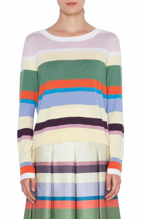 Akris punto Memphis Glass Stripe Wool Sweater by AKRIS PUNTO