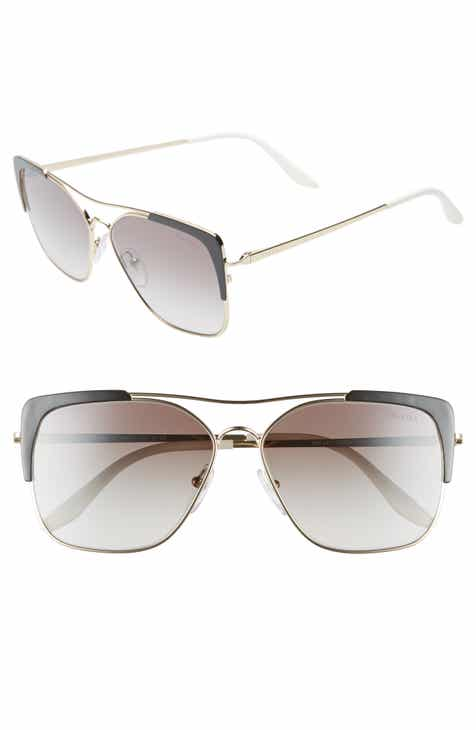 b32dffcda79 Prada 58mm Square Sunglasses