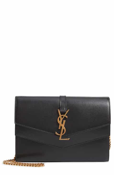 e5d90c04dcf1 Saint Laurent Sulpice Leather Crossbody Wallet
