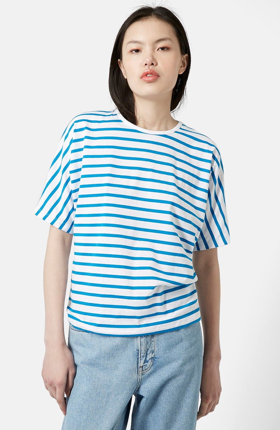 Alternate Image 1 Selected - Topshop Boutique Seamless Stripe Tee