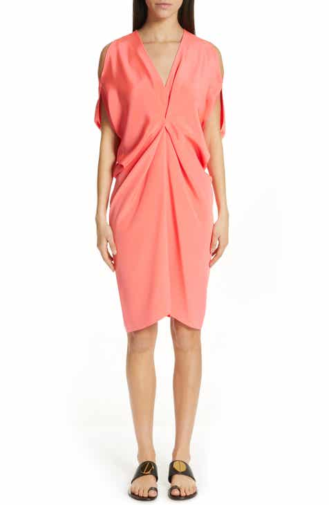 Zero + Maria Cornejo Cold Shoulder Silk Crepe Dress by ZERO AND MARIA CORNEJO