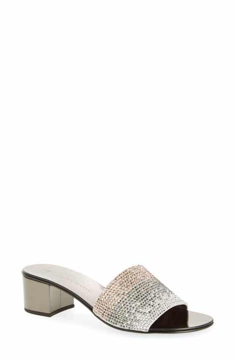 713b8dee6f26 Giuseppe Zanotti Crystal Embellished Slide Sandal (Women)