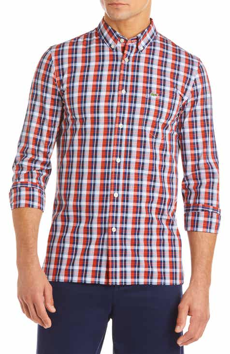 7c09d3a16df4bb Lacoste Men s Casual Button-Down Shirts Clothing