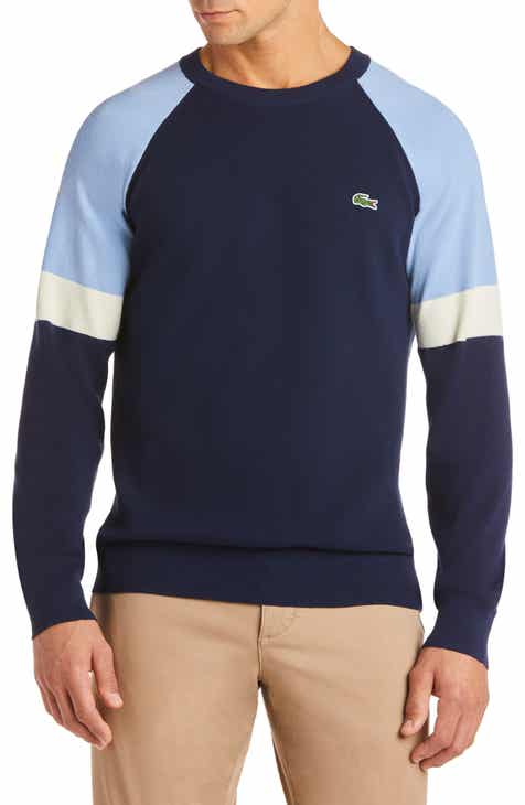 7b0611d80c2b0 Lacoste Mixed Stitch Colorblock Sweater