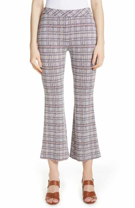 Rosetta Getty Plaid Crop Flare Pants by Rosetta Getty