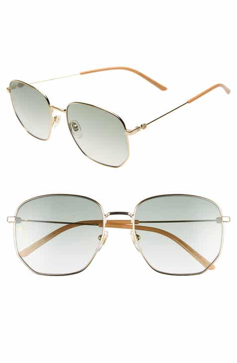 5c60462735 Gucci 56mm Aviator Sunglasses