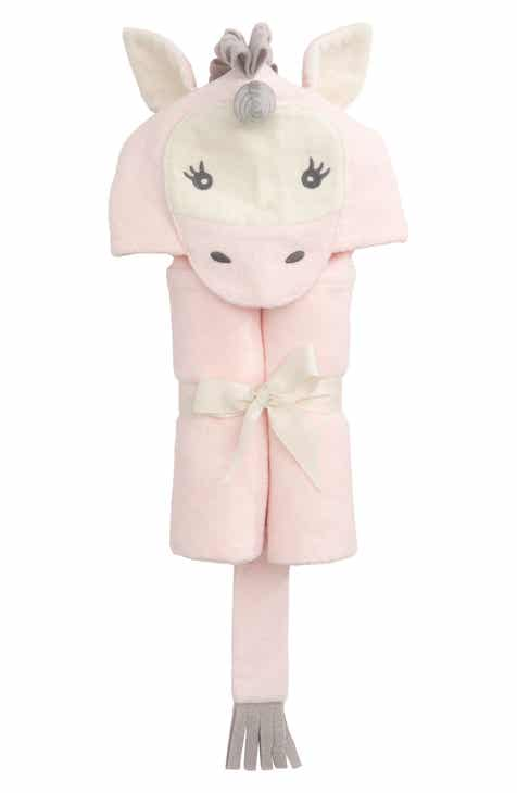 6af98cc247 Elegant Baby Terry Velour Hooded Unicorn Towel