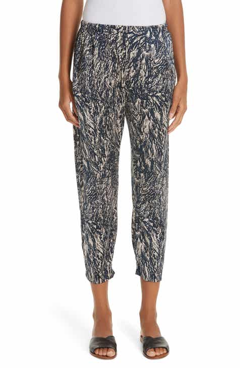 Zero + Maria Cornejo Gabi Hair Print Stretch Silk Pants by ZERO AND MARIA CORNEJO