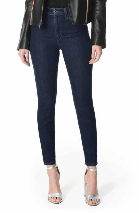 Joe's Charlie High Waist Frayed Crop Skinny Jeans (Donna) by JOES