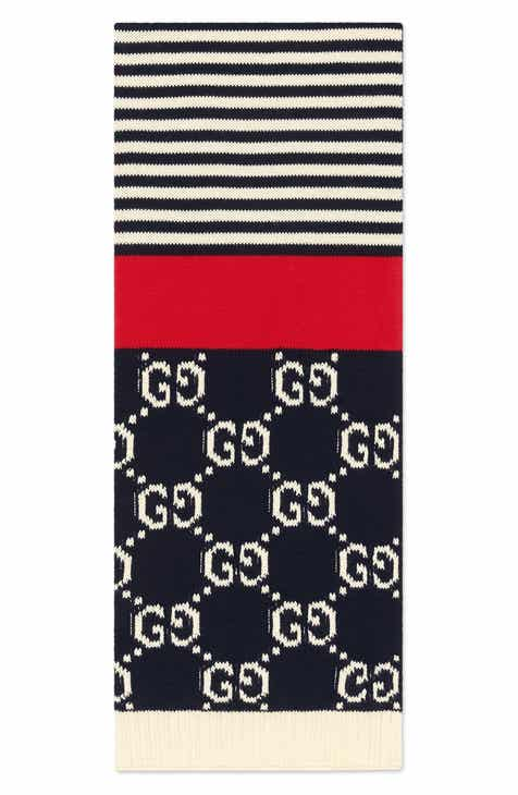 a8c52181e Gucci Stripe Cotton Scarf