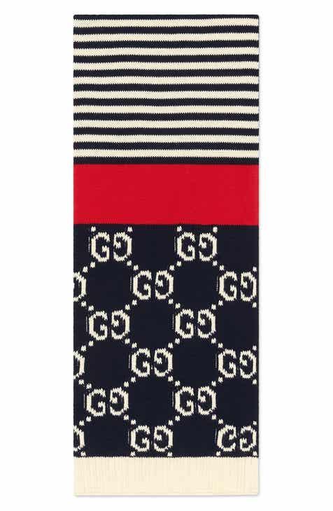 04117ab16811 Gucci Stripe Cotton Scarf