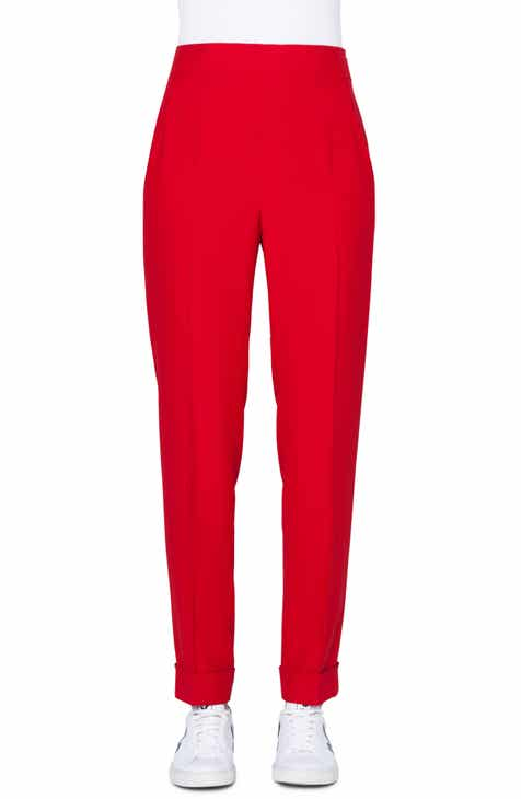 Akris Chris Cuffed Crepe Pants by AKRIS