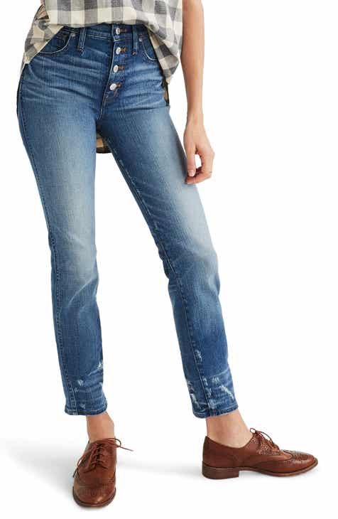 JEN7 by 7 For All Mankind Lace-Up Bootcut Crop Jeans (Nighttime Hudson) by JEN7 BY 7 FOR ALL MANKIND