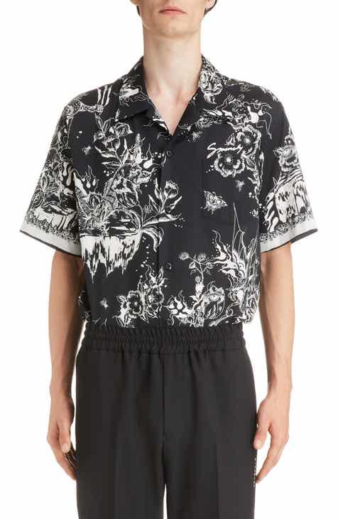 07faff96 Givenchy Dragon Sky Camp Shirt