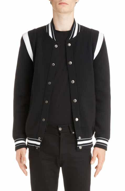 76d5c2128836e Givenchy Knit Teddy Wool Varsity Jacket